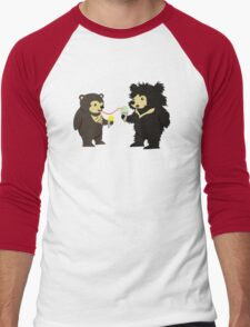 Sun Bear & Sloth Bear Eating Ice Cream Cones Men's Baseball ¾ T-Shirt
