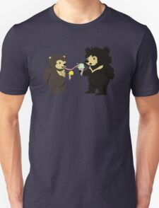 Sun Bear & Sloth Bear Eating Ice Cream Cones Unisex T-Shirt
