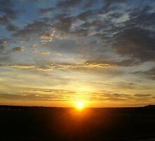 Sunrise over Denver 3 by Terry Hester