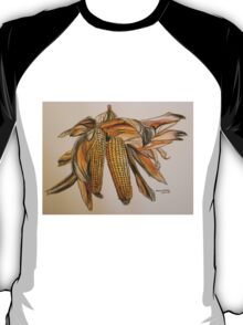 Drying sweetcorn, Tuscany. Pen and wash. Framed. 42x32cm T-Shirt