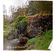 Ireland - Blarney Garden Waterfall Poster