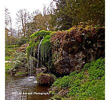 Ireland - Blarney Garden Waterfall Photographic Print