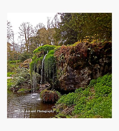 Ireland - Blarney Garden Waterfall Photographic Print