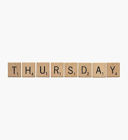 Wood Scrabble Thursday! Photographic Print
