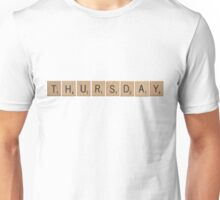 Wood Scrabble Thursday! Unisex T-Shirt