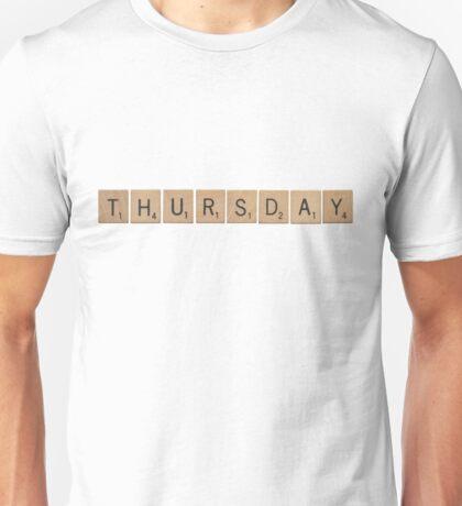 Wood Scrabble Thursday! Unisex T-Shirt