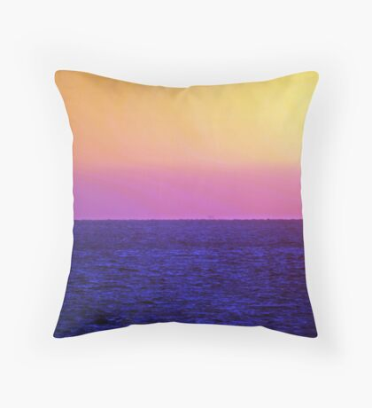 Sunset over the Gulf of Mexico 13 Throw Pillow