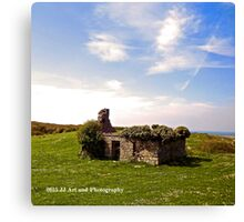 Ireland - Ruins of House Canvas Print
