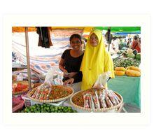 Malaysian Market Art Print