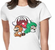 Mario outfits boo Womens Fitted T-Shirt