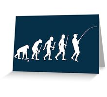 Evolution of Man and Fishing Greeting Card