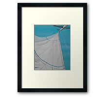 Sailboat sail Amel 2 Oil on Canvas Painting Framed Print