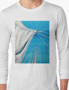 Sailboat sail Amel 1 Oil on Canvas Painting Long Sleeve T-Shirt