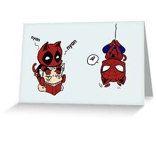 nyan deadpool and friends Greeting Card