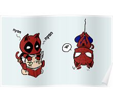 nyan deadpool and friends Poster