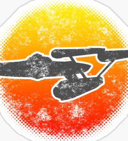 Constitution class Starship - light Sticker