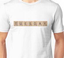 Wood Scrabble Tuesday! Unisex T-Shirt