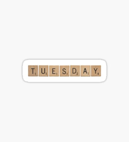 Wood Scrabble Tuesday! Sticker