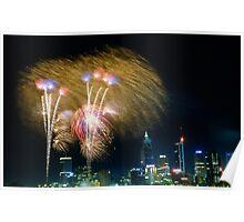 Perth fireworks Poster