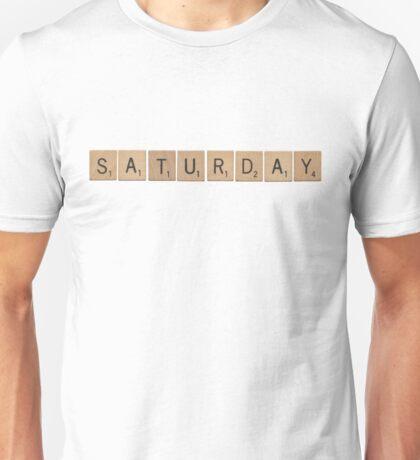 Wood Scrabble Saturday! Unisex T-Shirt