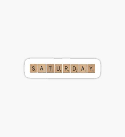 Wood Scrabble Saturday! Sticker