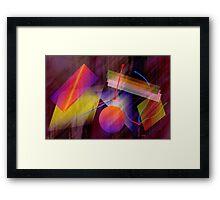 Emotional time travel machine Framed Print