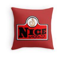 #nice Throw Pillow