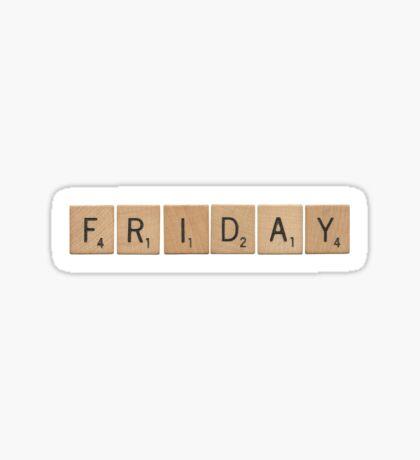 Wood Scrabble Friday! Sticker