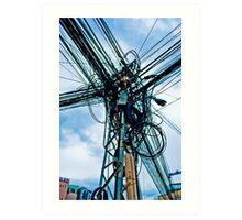 DigiCity-Intersection Art Print