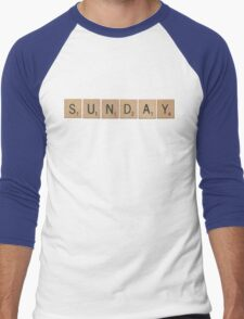 Wood Scrabble Sunday! Men's Baseball ¾ T-Shirt