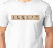 Wood Scrabble Sunday! Unisex T-Shirt