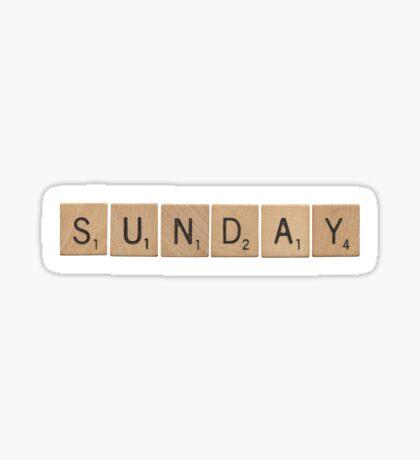 Wood Scrabble Sunday! Sticker