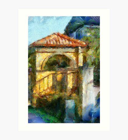 Gate house Art Print