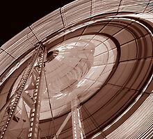 Ferris Wheel in Sepia by A Different Eye Photography