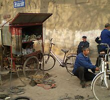 Bicycle Repair Shop -China by Ellenor Clarke
