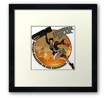 Bomber Dear - Putting Warheads on Axis Foreheads Framed Print