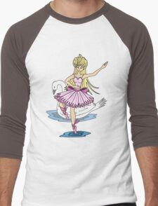 Swan Lake Men's Baseball ¾ T-Shirt