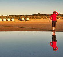 Ans on the beach.... by Adri  Padmos