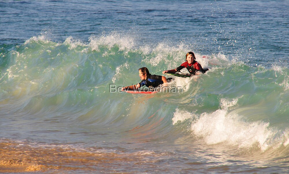 Surfing Nobby's Style by Bev Woodman