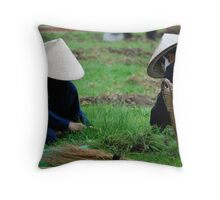 Workers Throw Pillow