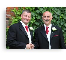 The Groom, and Best Man Canvas Print