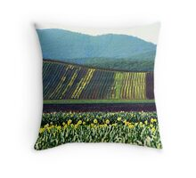 Daffodil Farm, Gembrook, Dandenong Ranges, Victoria Throw Pillow