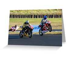 Cool down lap wheel stand Greeting Card