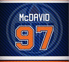 Oilers Connor McDavid - Jersey Style by RoufXis