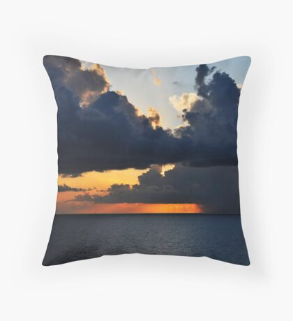 Sunrise over the Gulf of Mexico 0 Throw Pillow