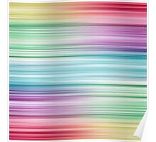 Linear Rainbow Design Poster