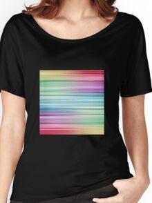 Linear Rainbow Design Women's Relaxed Fit T-Shirt