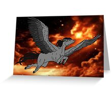 Dark Pegasus Greeting Card