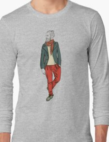 man in fashion clothes Long Sleeve T-Shirt