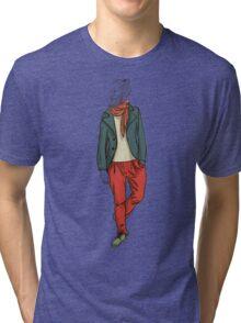 man in fashion clothes Tri-blend T-Shirt